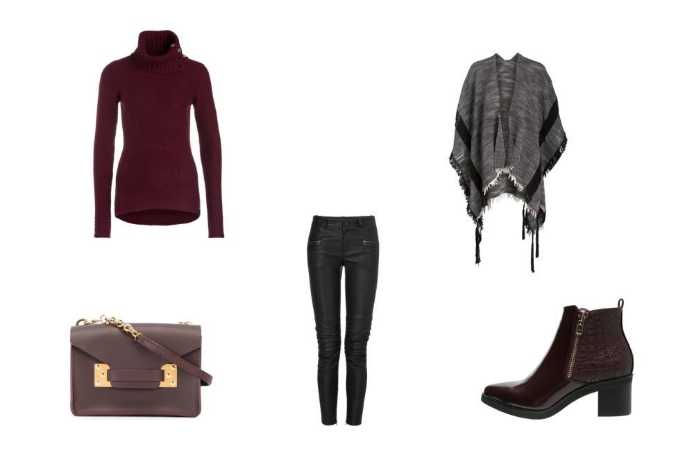 1 neuer Lieblingspullover – 3 verschiedene Herbststyles - Der modische Poncho-Look