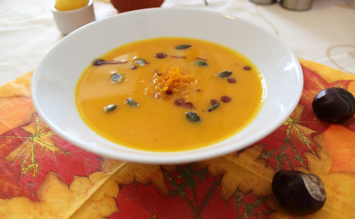 Kürbissuppe mit Orange