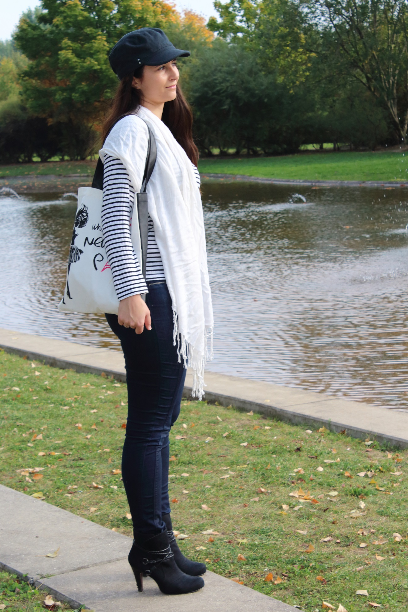 Outfit: Boyfriend-Shirt meets Skinny Jeans