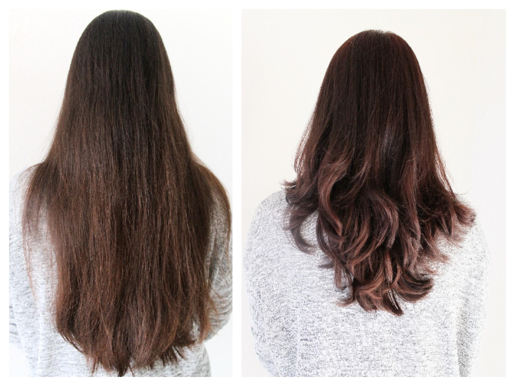 Haarlänge Vorher - Nachher