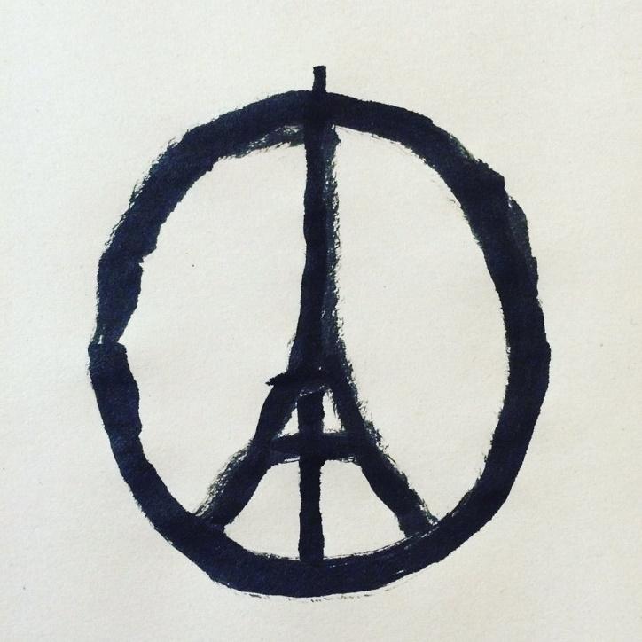 #prayforparis Foto: Jean Jullien