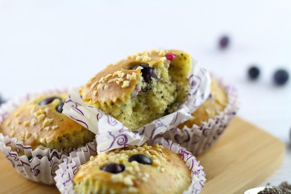 Gesundes Frühstück - Heidelbeer-Chia-Muffins