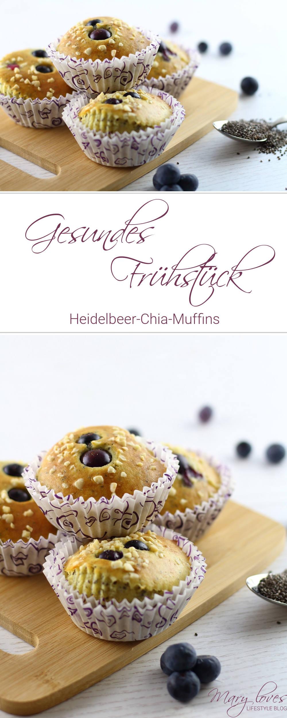 Gesundes Frühstück - Heidelbeer-Chia-Muffins - #muffins #heidelbeermuffins #chiamuffins #chiasamen #chia #frühstück #frühstückmuffins