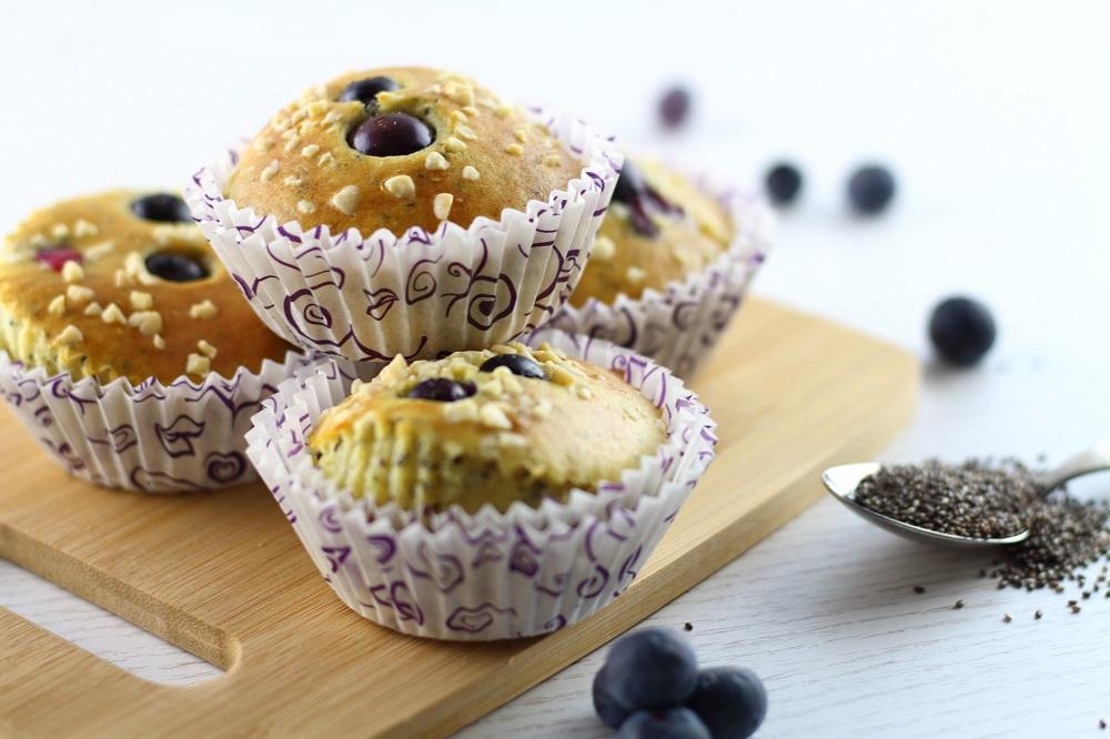 Gesundes Frühstück: Heidelbeer-Chia-Muffins - Mary loves