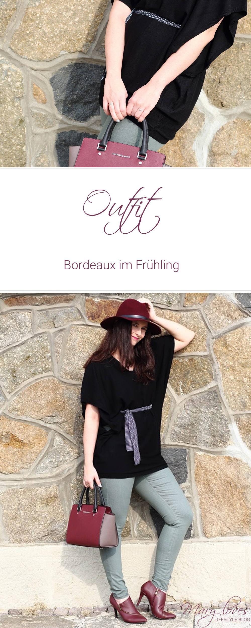Outfit - Bordeaux im Frühling