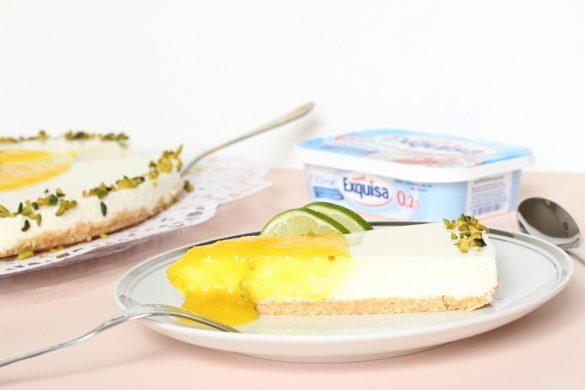 Fruchtig erfrischende Exquisa-Torte mit Mango und Limette