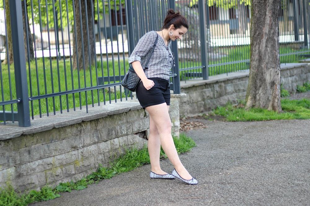 Outfit - Mein schwarz-weißer Frühlingslook 1