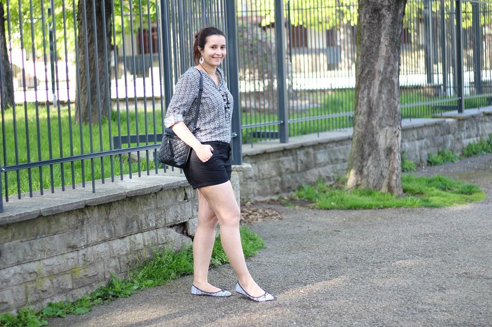 Outfit - Mein schwarz-weißer Frühlingslook
