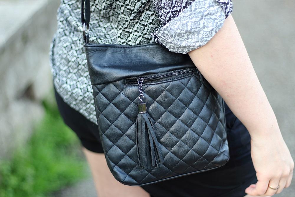 Outfit - Mein schwarz-weißer Frühlingslook - Tasche