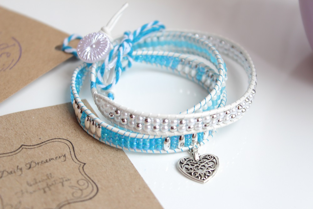 Blogger-Armband-Kollektion - Dailydreamery Leipzig - Modell Mary Loves blue