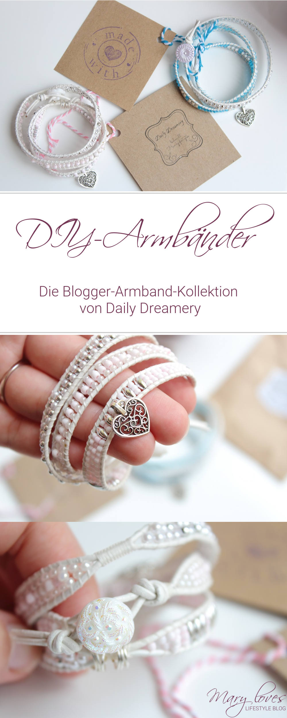 [Blogger-Armband-Kollektion] Holt euch Mary Loves als Armband -DIY