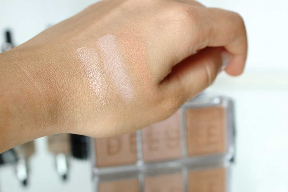 Catrice Neuheiten Teint Herbst/Winter 2016/2017 - Deluxe Glow Highligher - 010 The Glowrious Three - swatches