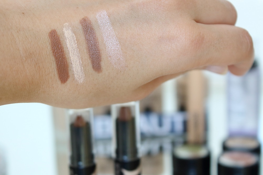 Catrice Neuheiten Teint Herbst/Winter 2016/2017 - Prime and Fine Contouring Duo Stick - 020 Medium Skin & 010 Lighter Skin - swatches