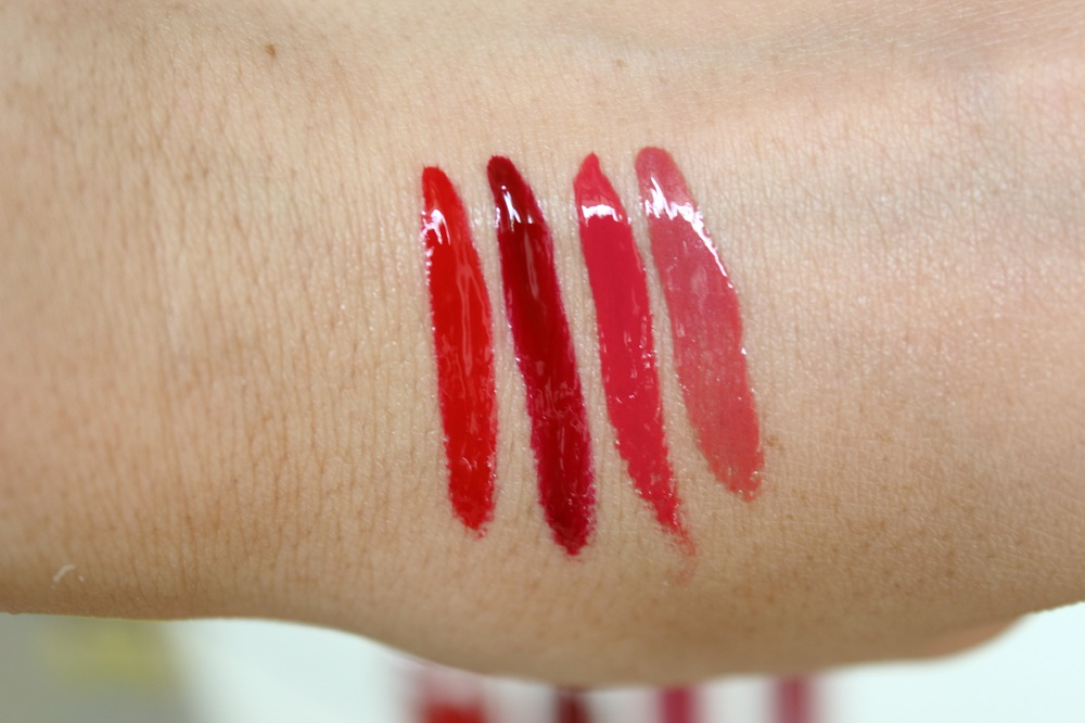 Catrice Neuheiten Lippen Make-up Herbst-Winter 2016 - Shine Appael Fluid Lipstick Intense - swatches
