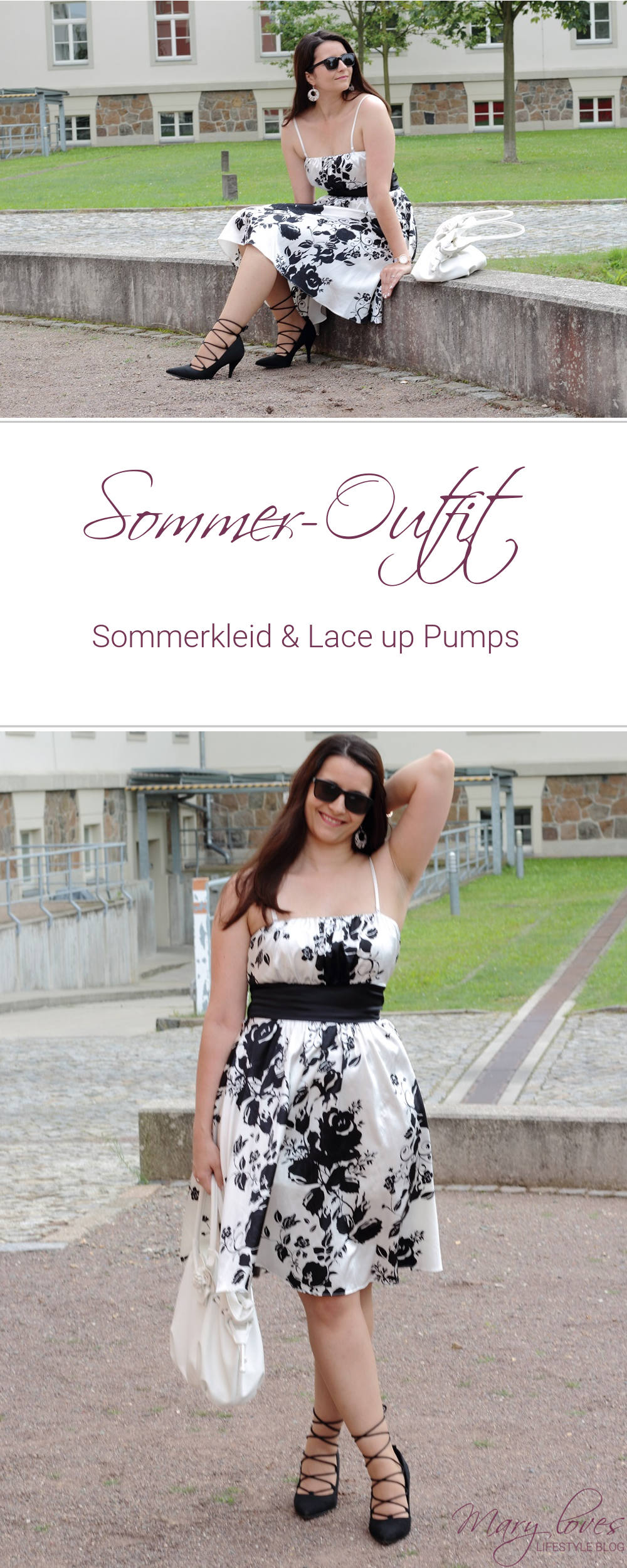 [Outfit] Sommerkleid und Lace up Pumps