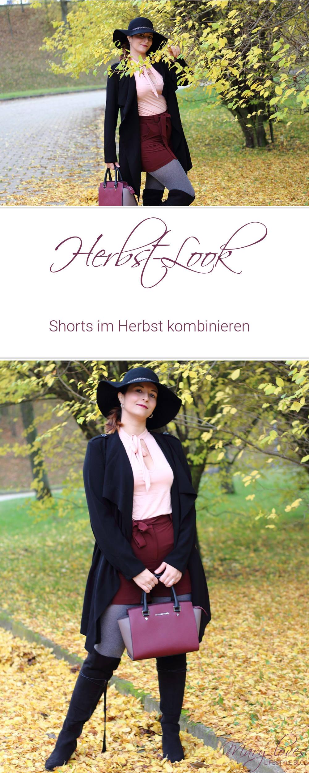 [Outfit] Shorts im Herbst kombinieren - Herbstlook
