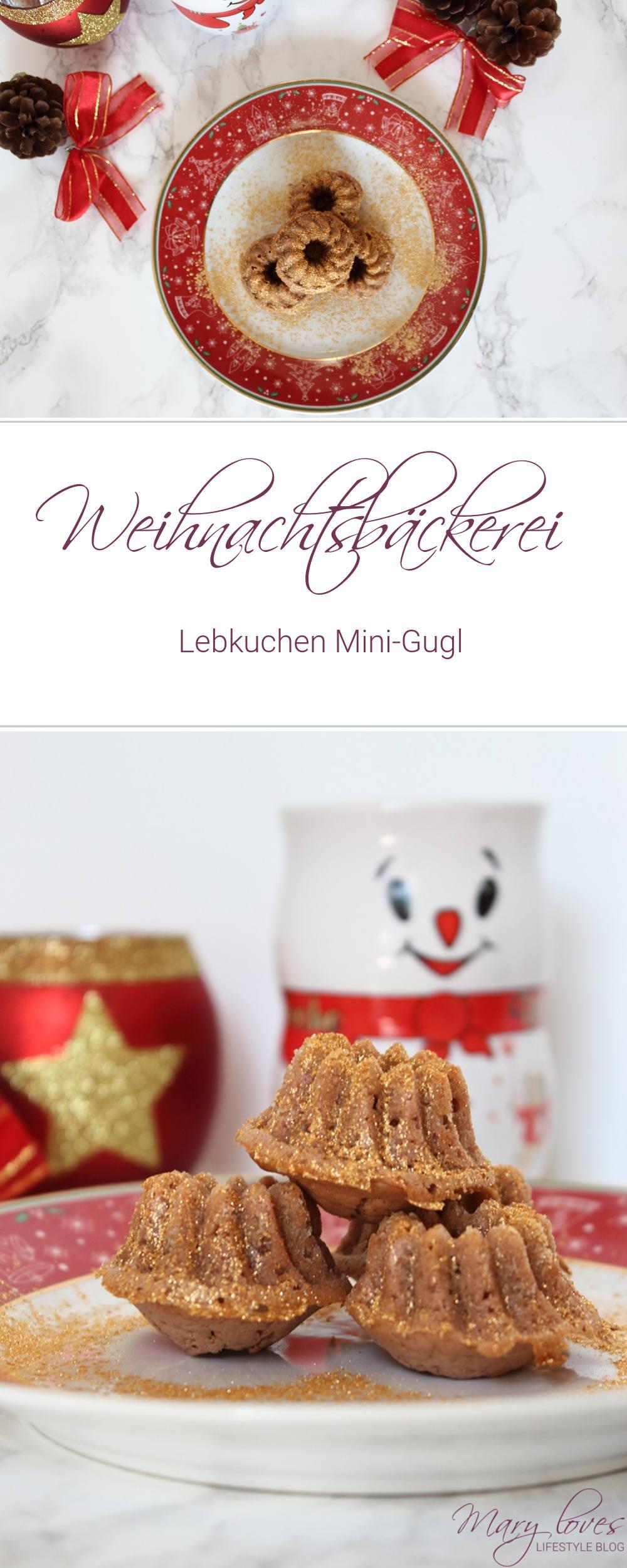 Weihnachtsbäckerei - Lebkuchen Mini-Gugl - Rezept