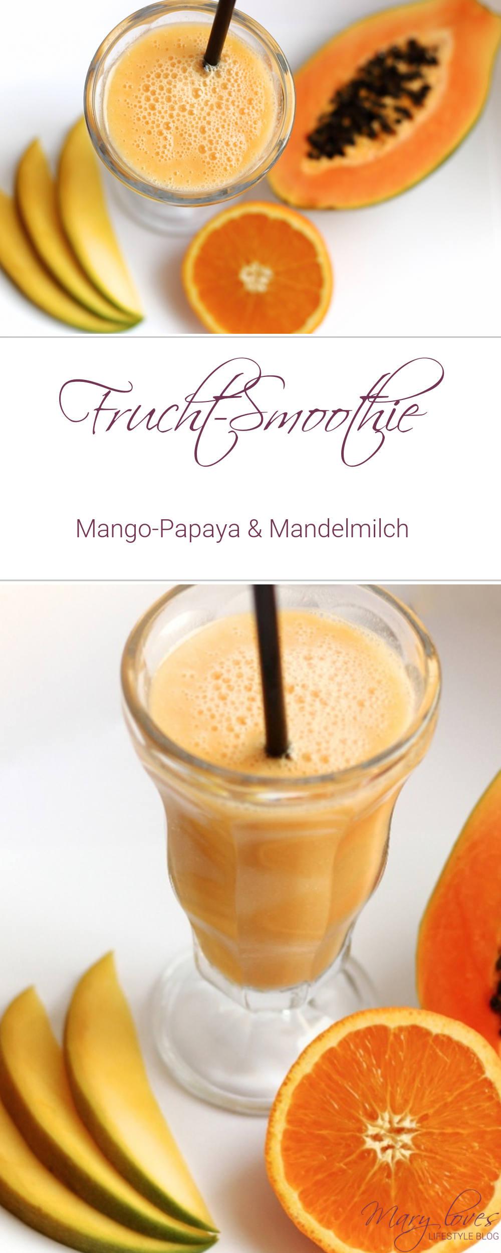 smoothie rezept frucht smoothie mit mandelmilch mary loves. Black Bedroom Furniture Sets. Home Design Ideas