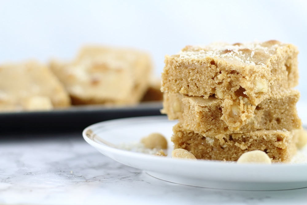 Blondie-Rezept - Salted Macadamia Blondies