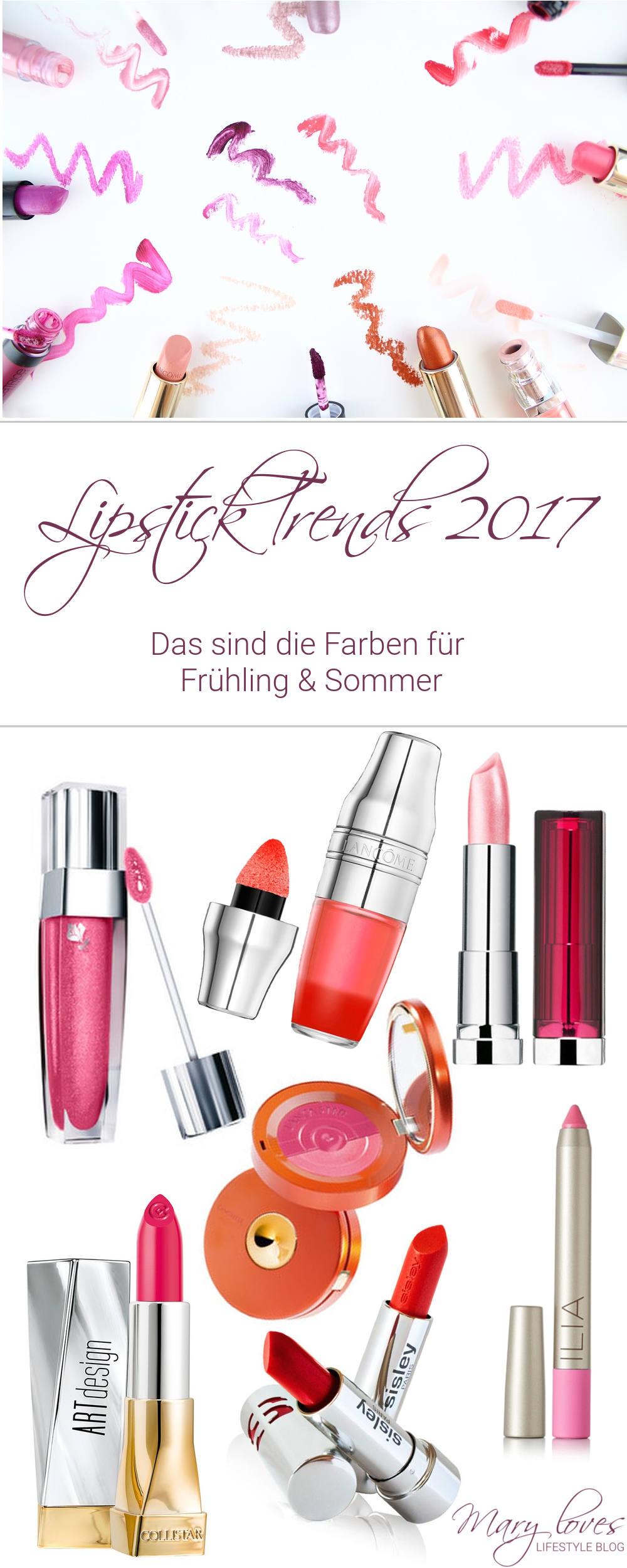 Lipstick Trends 2017 - Das sind die Farben für Frühling und Sommer 2017 - Lippenfarben, Lippenstift, Lippentrends, Lippen Make-up, Lips, Lippen, Lipgloss,