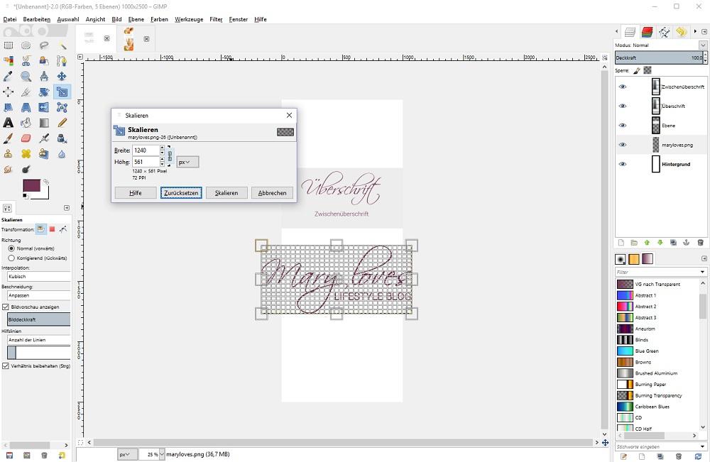 Pinterestbilder optimieren mit GIMP - GIMP Tutorial