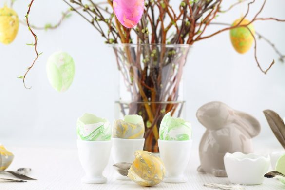 [Oster-DIY] Ostereier marmorieren mit Nagellack