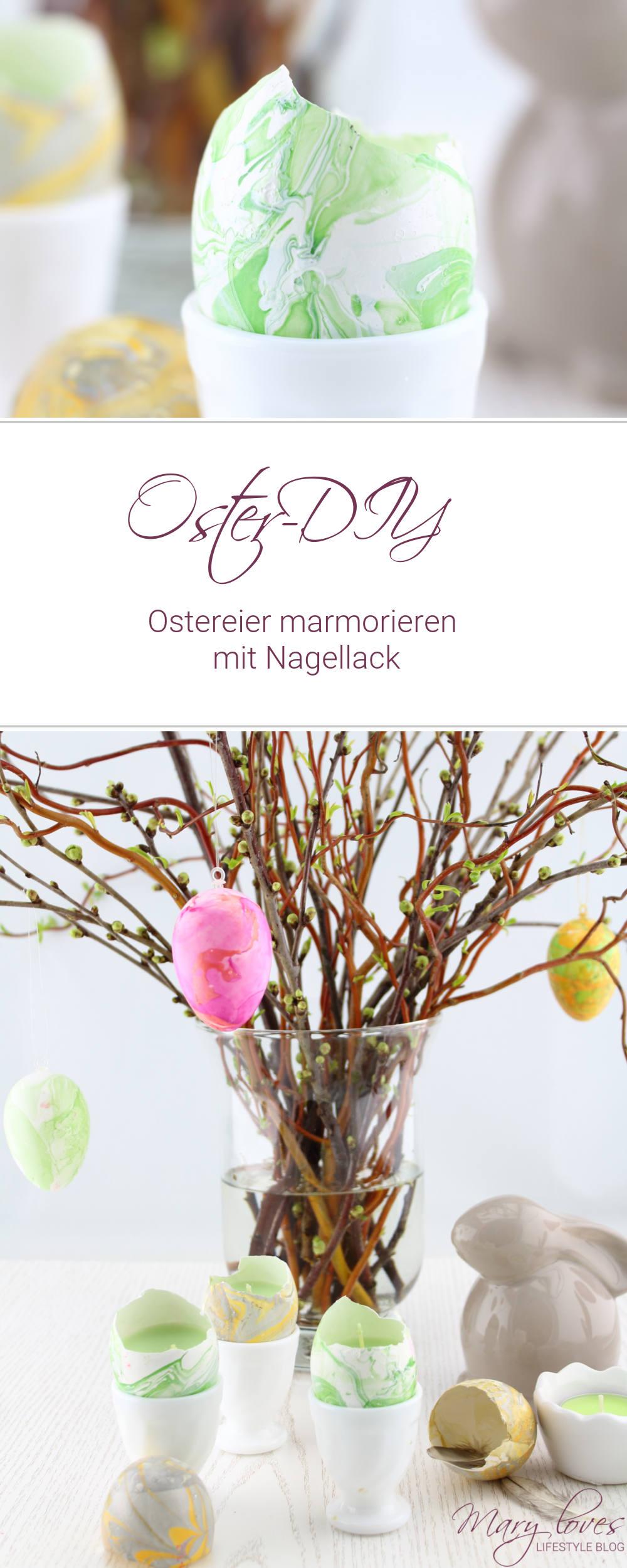 Oster-DIY] Ostereier marmorieren mit Nagellack - watermarble easter ...