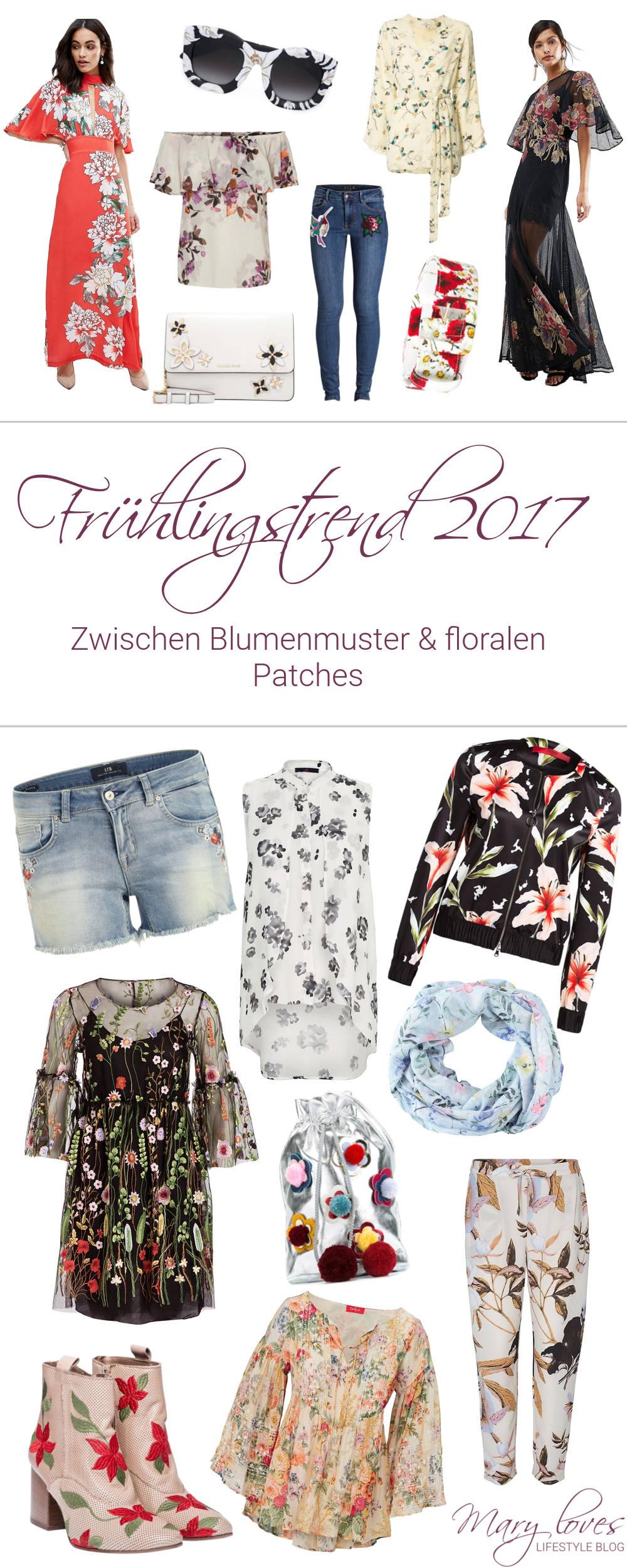 Editor's Picks - Frühlingstrend 2017 - Bunte Blumenmuster und florale Patches - Modetrend, Blumenprint, floral, Flowerprint, Flower Power, Fashion, Outfit, Inspirationen