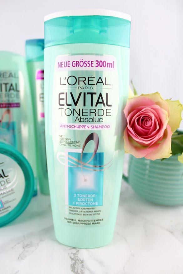 Haarpflege mit Tonerde - L'Oréal Paris Elvital Tonerde Absolue Haarpflege-Serie im Test - Haarpflegeprodukte mit Tonerde - Anti-Schuppen Shampoo mit 3 Tonerde-Sorten und Piroctone