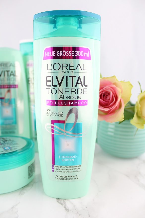 Haarpflege mit Tonerde - L'Oréal Paris Elvital Tonerde Absolue Haarpflege-Serie im Test - Haarpflegeprodukte mit Tonerde - Tonerde Pflegeshampoo mit 3 Tonerde-Sorten