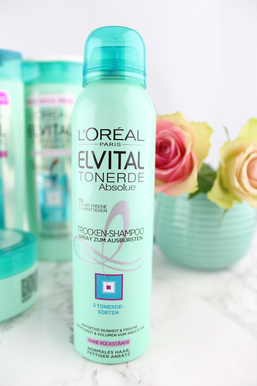 Haarpflege mit Tonerde - L'Oréal Paris Elvital Tonerde Absolue Haarpflege-Serie im Test - Haarpflegeprodukte mit Tonerde - Trocken-Shampoo zum Ausbürsten mit 3 Tonerde-Sorten