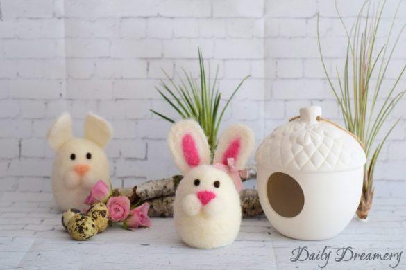 [Link Collection] Inspirierende Rezepte und Ideen zu Ostern - Gefilzte Osterhasen von Daily Dreamery