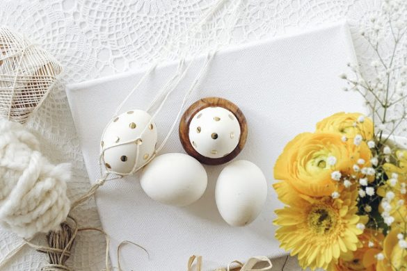[Link Collection] Inspirierende Rezepte und Ideen zu Ostern - Goldkonfetti-Ostereier von Mammilade