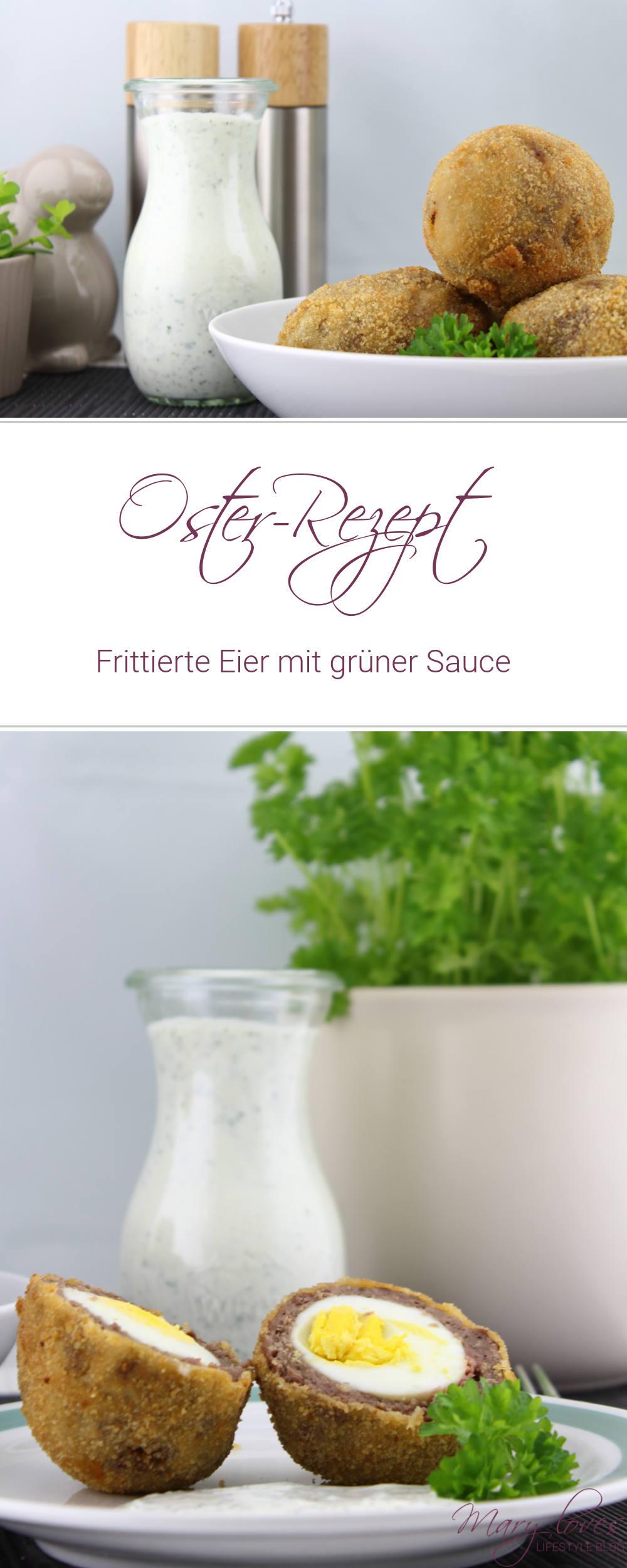 [Oster-Rezept] Frittierte Eier mit grüner Sauce - Rezept fürs Osteressen - die Frikadellen-Eier schmecken warm oder kalt - ostern, rezept, osterrezept, gekochte Eier, hessische grüne sauce
