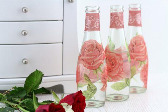 DIY-Blumenvasen mit Serviettentechnik gestalten