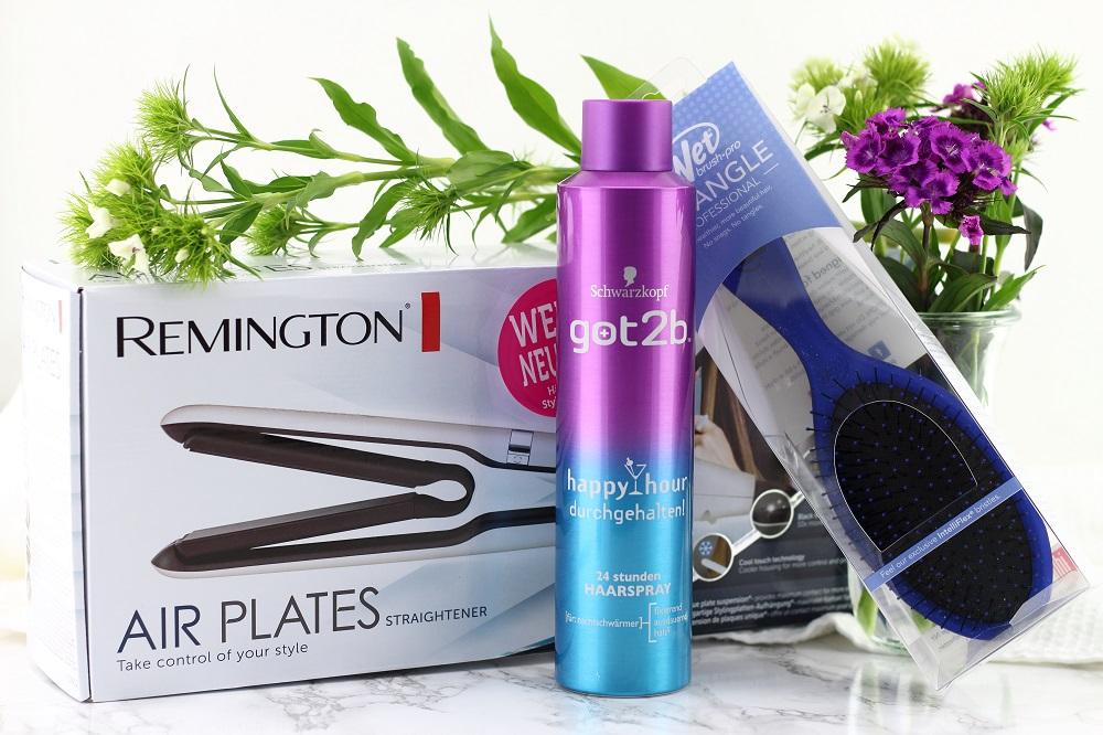 Gewinnt ein Beauty-Set für die Haare zum 2. Bloggeburtstag - Gewinnt ein Remington Air Plates Glätteisen, eine Wet Brush Haarbürste & ein Got2b 24h Haarspray - Beautygewinnspiel