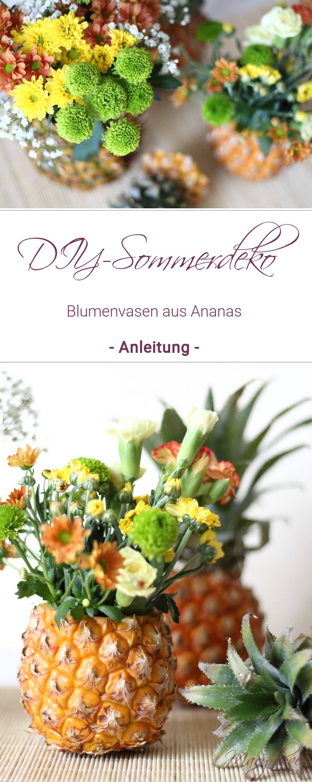 DIY-Sommerdeko - So bastelt ihr eine Ananas-Blumenvase - Anleitung für eine selbstgebastelte Blumenvase aus einer Ananas