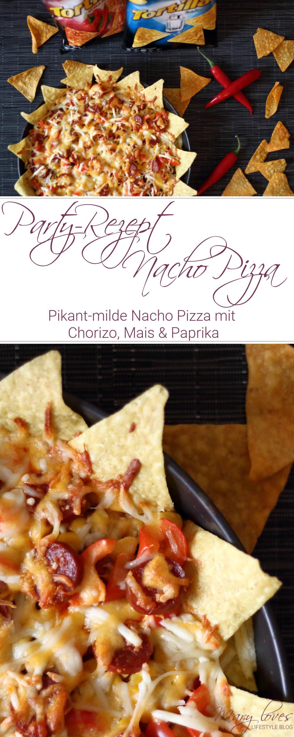 [Anzeige] Chio Tortiallas Rezepte - Pikant-milde Nacho Pizza mit Chio Tortillas - Tortilla Pizza mit Chorizo, Mais & Paprika