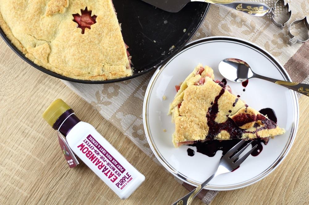 [Anzeige] Apfel-Weintrauben-Pie mit dem gewissen Extra von Eat a Rainbow