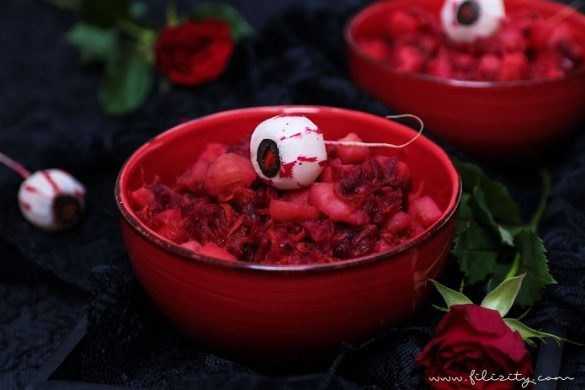 [Link Collection] Die besten Halloween-Ideen von Bloggern - Blutroter Kartoffelsalat von Filizity