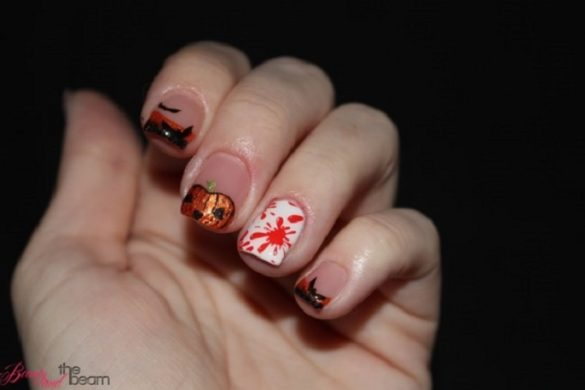[Link Collection] Die besten Halloween-Ideen von Bloggern - Nageldesign Kürbis von Beauty and the beam