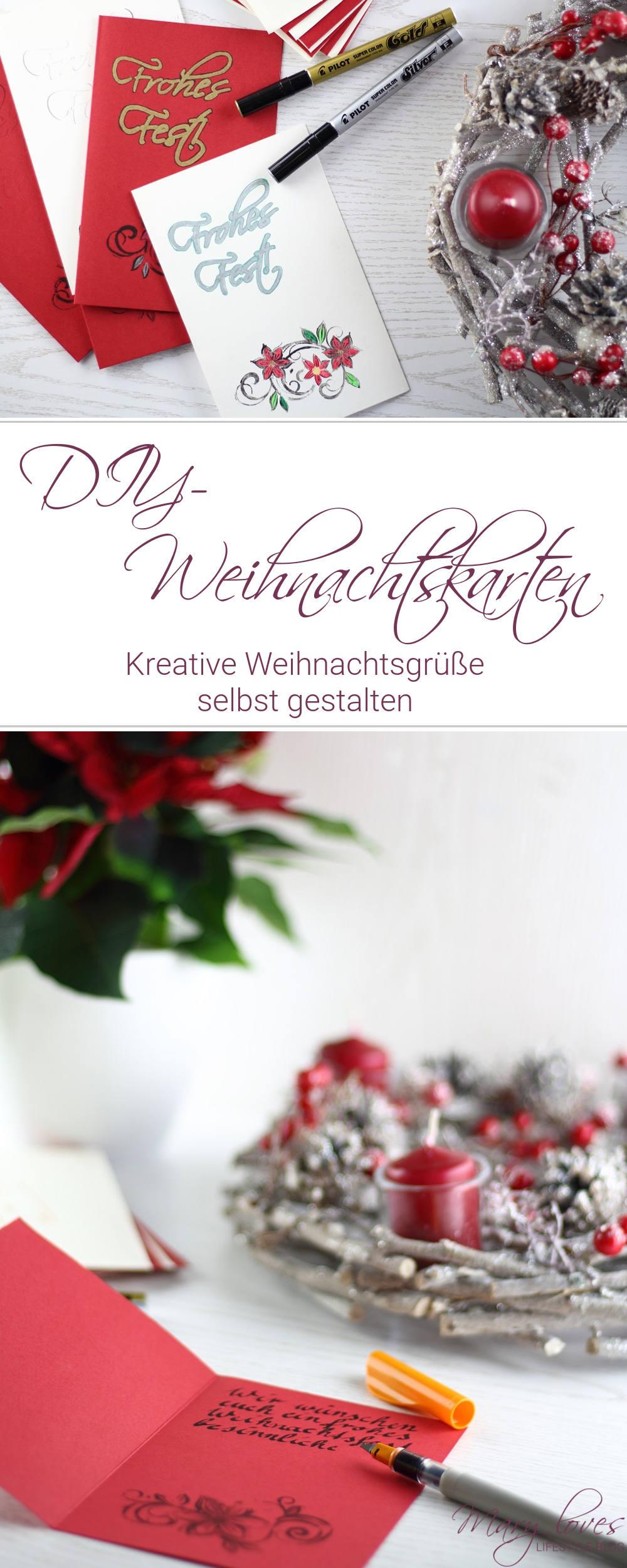[Anzeige] DIY-Weihnachtskarten - Kreative Weihnachtsgrüße selbst gestalten mit dem Kreativ-Sortiment von Pilot - #diyweihnachtskarten #weihnachtskartengestalten #weihnachtsgrüße #weihnachten #pilotpen