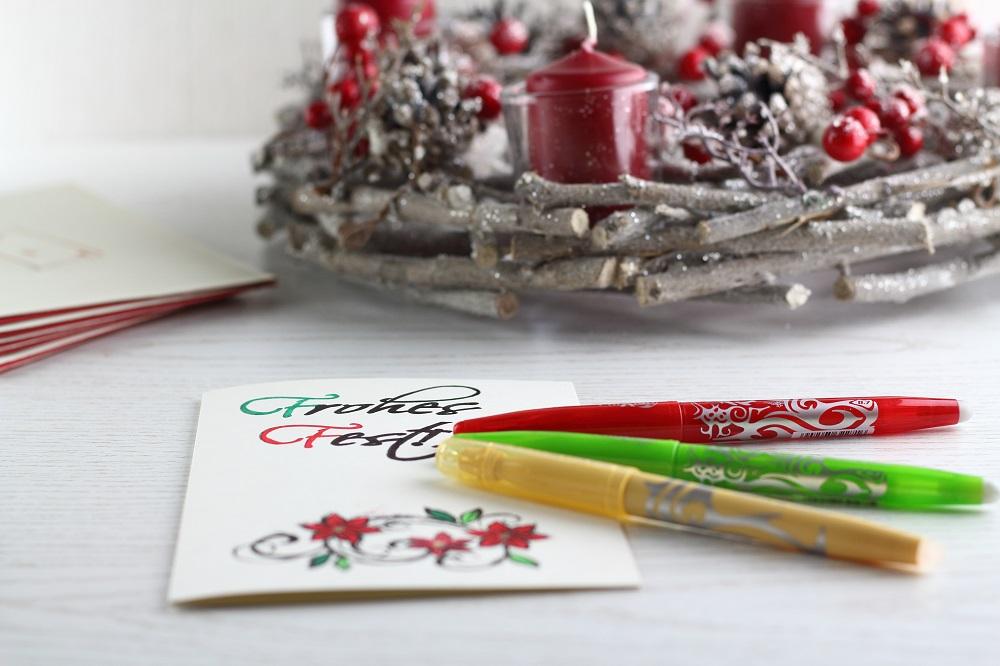 [Anzeige] DIY-Weihnachtskarten - Kreative Weihnachtsgrüße selbst gestalten mit dem Kreativ-Sortiment von Pilot