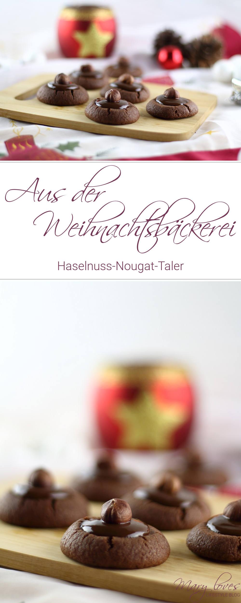 Aus der Weihnachtsbäckerei - Haselnuss-Nougat-Taler - #weihnachtsbäckerei #haselnussnougattaler #plätzchen #weihnachtsplätzen #plätzchenrezept