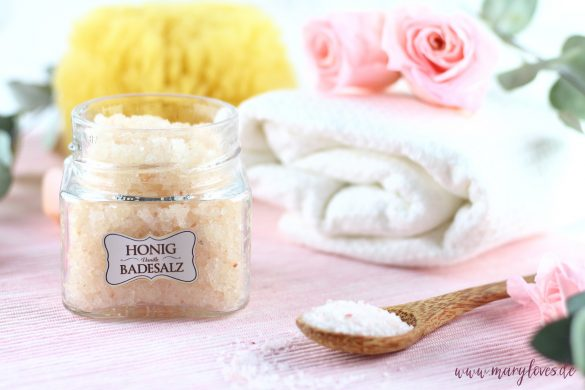 DIY-Geschenkidee - Honig-Vanille Badesalz als Wohlfühlgeschenk