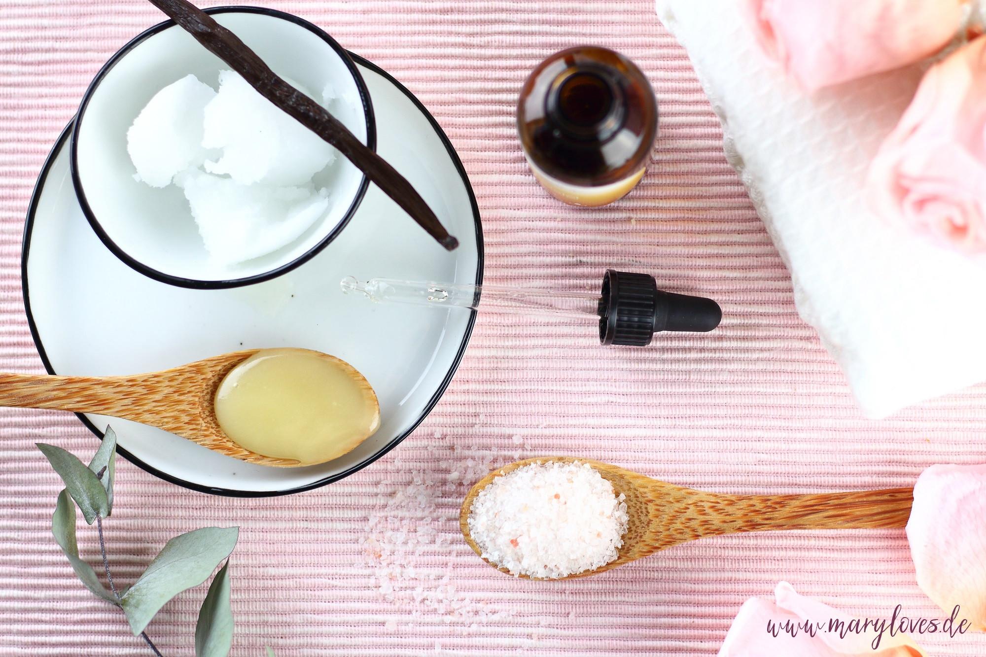 Natürliches Honig-Vanille Badesalz selber machen - Zutaten