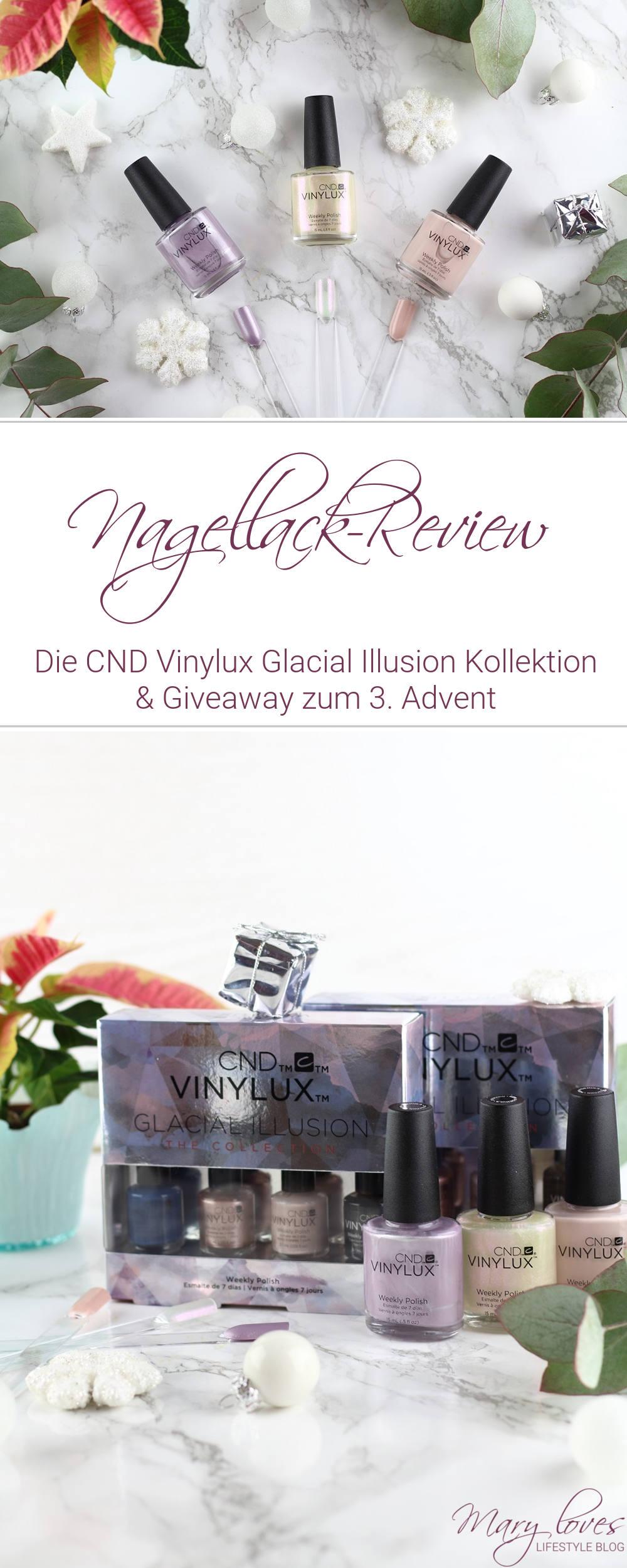 Die CND Vinylux Glacial Illusion Kollektion & Giveaway zum 3. Advent - #nagellack #nailpolish #cndvinylux #cndvinyluxglacialillusion #glacialillusion #gewinnspiel
