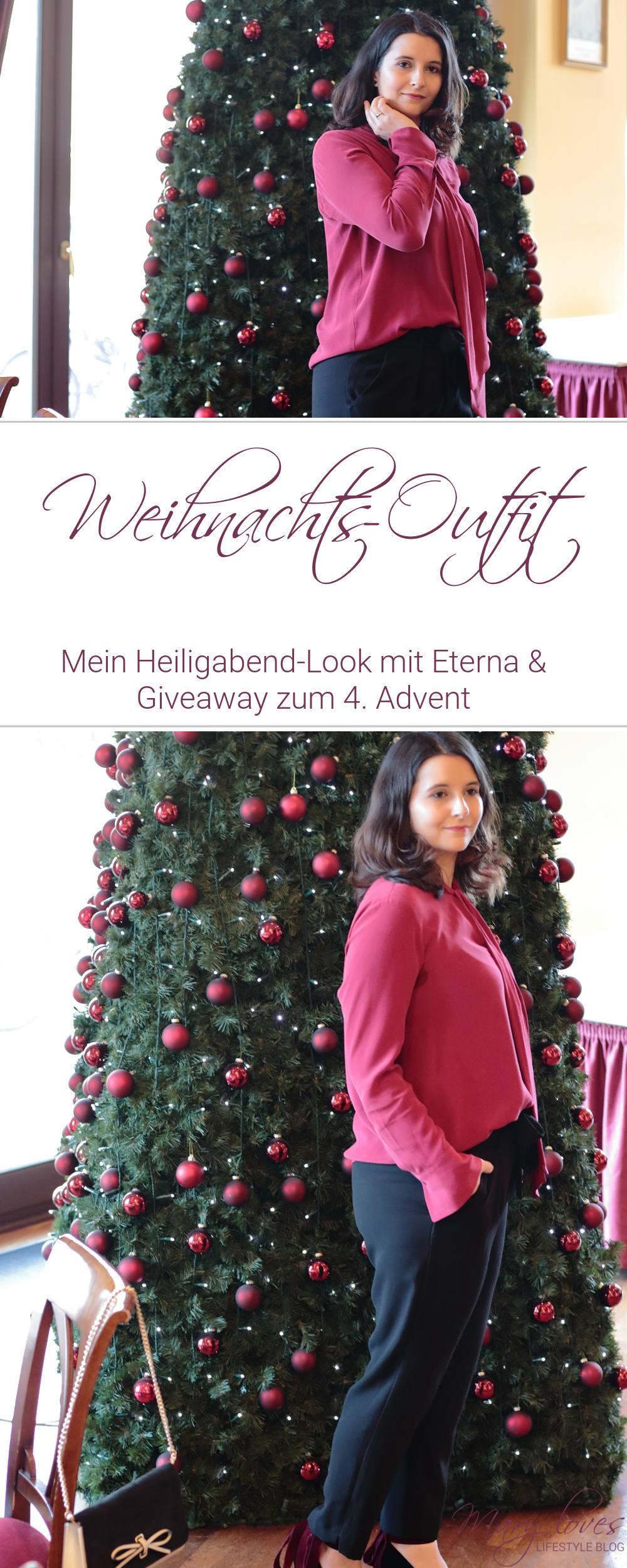 [Anzeige] Weihnachts-Outfit - Mein Heiligabend-Look mit Eterna & Giveaway zum 4. Advent - #eterna #outfit #weihnachtsoutfit #heiligabendlook