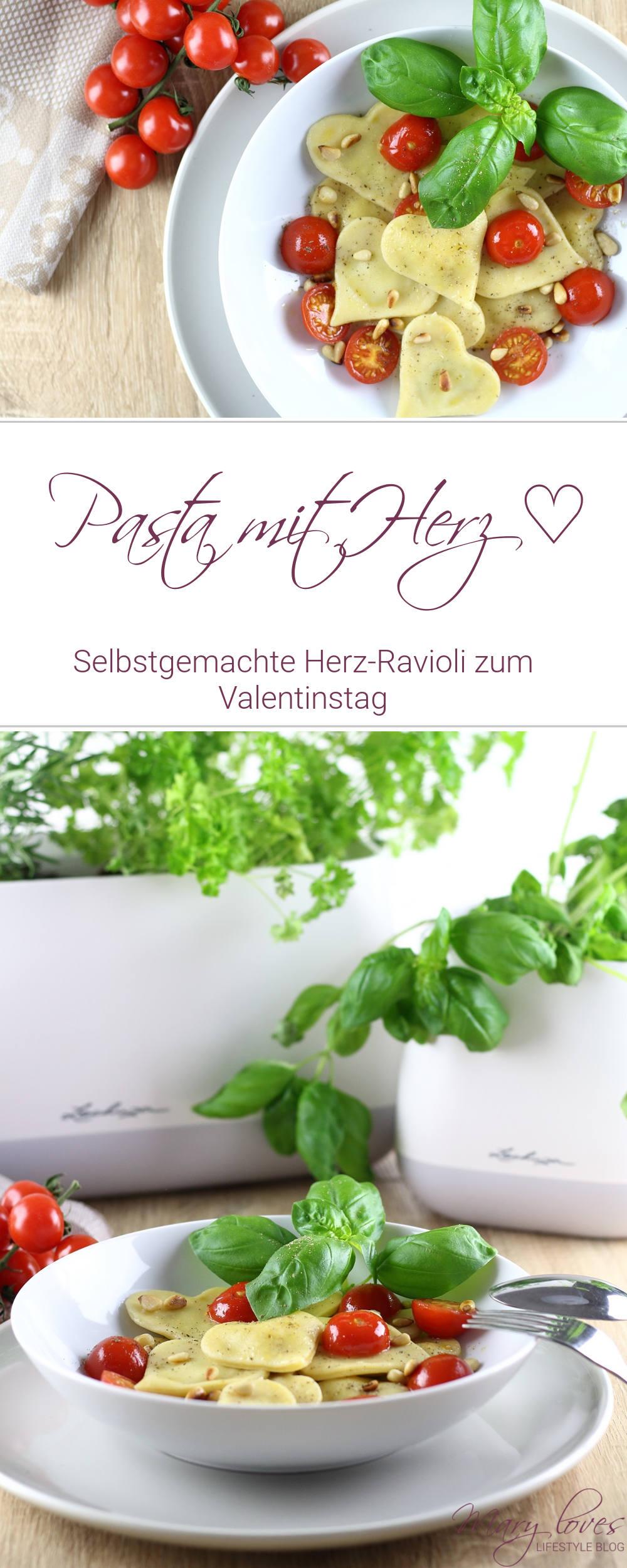[Anzeige] Pasta mit Herz - Selbstgemachte Herz-Ravioli zum Valentinstag - #valentinstag #herzravioli #ravioli #pastarezept #pasta