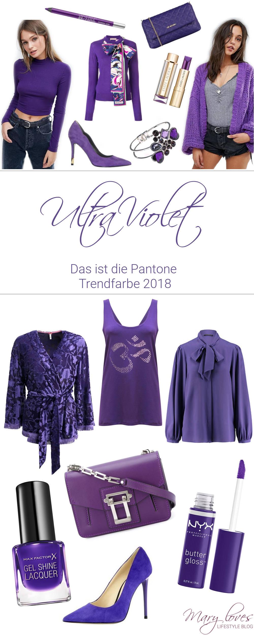 Ultra Violet - Das ist die Trendfarbe 2018 - Pantone Color of the Year 2018 - #ultraviolet #violett #trendfarbe2018 #pantone #lila